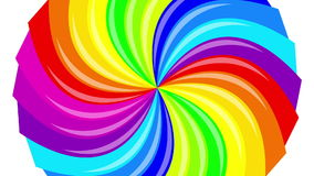 Colorful background rainbow  that  rotating spiral. stock video footage