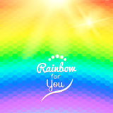 Colorful background with rainbow waves with mosaic Stock Images