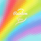 Colorful background with rainbow waves Stock Images