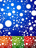 Colorful background with random, scattered circles. Abstract dot. Ted, speckled background. - Royalty free vector illustration Royalty Free Stock Photo