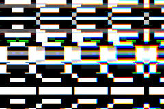 Colorful background realistic flickering, analog vintage TV signal with bad interference, static noise background. Overlay ready Royalty Free Stock Photos
