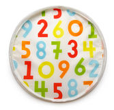 Colorful background with rendom numbers Royalty Free Stock Images