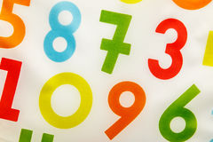 Colorful background with rendom numbers Stock Photography