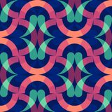 Colorful background rings. Abstract wallpaper. Modern geometric pattern design. Retro memphis style, fashion 80-90s. Vector royalty free illustration