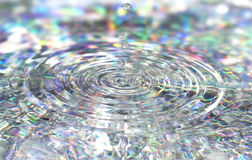 Colorful background with ripples and drops Royalty Free Stock Photo