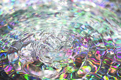 Colorful background with ripples and drops Stock Images