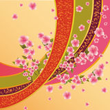 Colorful background with sakura blossom Stock Image
