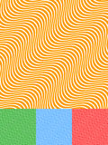 Colorful Background Set with Diagonal Wavy Lines Stock Photos