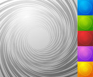 Colorful background set with spiral - vortex element. Set of 5 c Stock Image