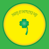 Colorful background with shamrock and font Stock Image