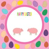 Colorful background with sheep and font Stock Photo