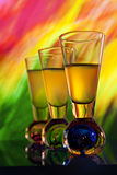 Colorful background with shooter glasses Stock Image