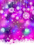 Colorful background with snowflakes. EPS 8 Stock Images