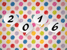 Colorful background with speech bubbles and 2016 text Royalty Free Stock Photo