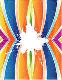 Colorful background and splash Stock Photography