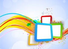 Colorful background with squares Royalty Free Stock Photo