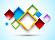 Colorful background with squares Stock Images