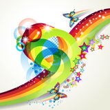 Colorful background with stars Royalty Free Stock Image