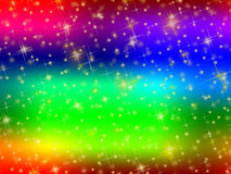 Colorful background with stars. Stock Images