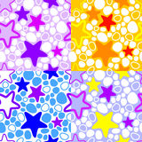 Colorful background with stars. Royalty Free Stock Photography