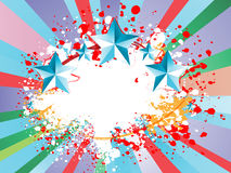 Colorful background. With starts, spots and rays Royalty Free Stock Photo