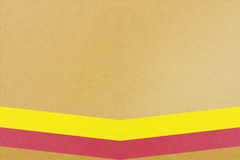 Yellow background with two colorful lines Royalty Free Stock Image