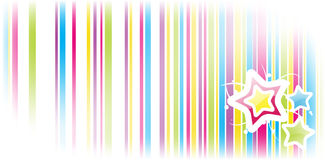 Colorful background with stripes and stars Royalty Free Stock Photography