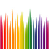 Colorful background stripes on white Stock Photos