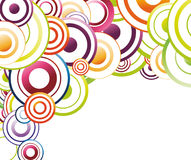Colorful background template - rainbow circles Royalty Free Stock Photos