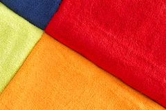 Colorful background texture of cotton towels Stock Image