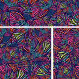 Colorful Background texture set with abstract triangles.eps Royalty Free Stock Images