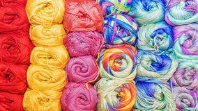 Colorful background from threads for knitting.  Royalty Free Stock Photography