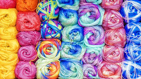 Colorful background from threads for knitting.  Royalty Free Stock Photo
