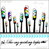 Be my guiding light - card Royalty Free Stock Photo