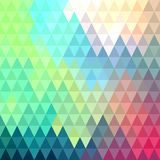 Colorful background with triangular pattern. Colorful mosaic geometric background with triangular pattern Stock Images