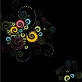 Colorful background twirls Stock Photo