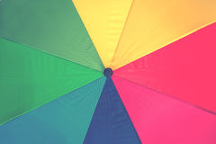 Colorful background of umbrella rainbow, Royalty Free Stock Image