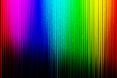 Colorful background with vertical lines on black gradient background. Stock Images