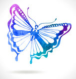 Colorful background with watercolor butterfly Royalty Free Stock Photography