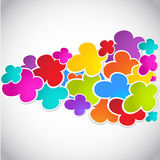 Colorful Background With Flowers Royalty Free Stock Images