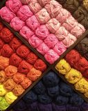 Colorful background of yarn Stock Photography