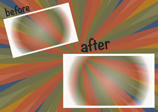 Colorful background before and after. You can add text, photos stock illustration