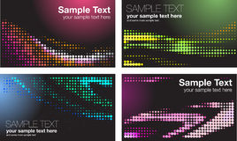 Colorful backgrounds. Set of colorful dotted backgrounds Stock Photo