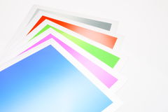 Colorful backgrounds. Variety of colorful sheets used in backgrounds Stock Image