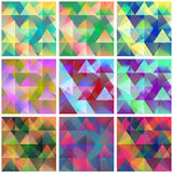 Colorful backgrounds with abstract geometric shapes Stock Image