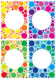 Colorful backgrounds pack. Colorful backgrounds of dots with space in center for your text royalty free illustration