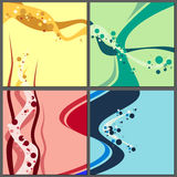 Colorful backgrounds in set. Royalty Free Stock Photos