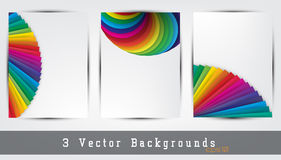 Colorful backgrounds set Stock Images
