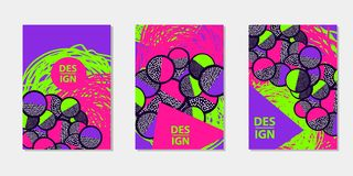 Colorful backgrounds. Templates for card, banner, poster, flyer, cover. Colorful backgrounds. Creative Templates set. Vector illustration stock illustration