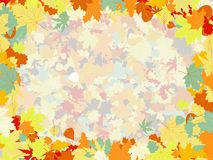 Colorful backround of fallen autumn leaves. EPS 8 Stock Image